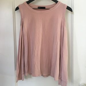 NORDSTROM GIBSON cold shoulder top like new